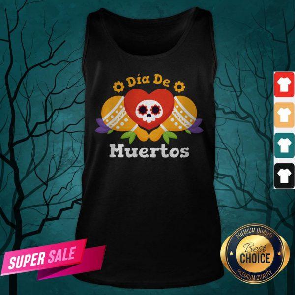 Dia De Muertos Day Dead Sugar Skull Tank Top