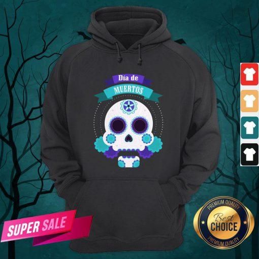 Premium Shhh And Bring Dad A Beer HoodieDia De Muertos Day Of Dead Sugar Skull Hoodie