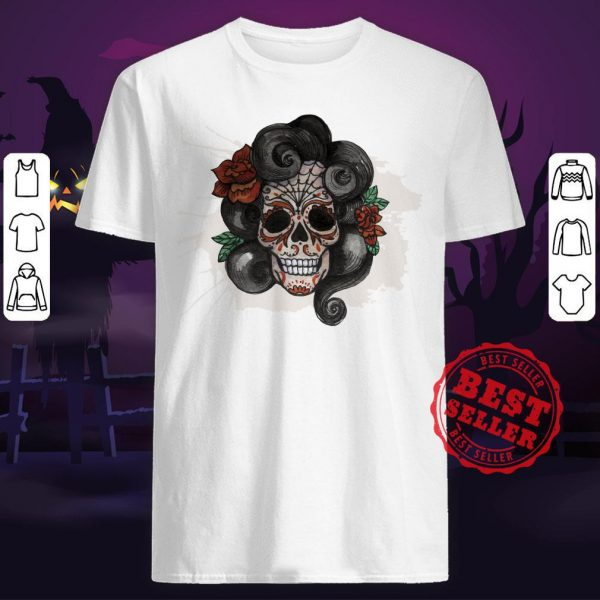 Dia De Muertos Woman Sugar Skull Shirt