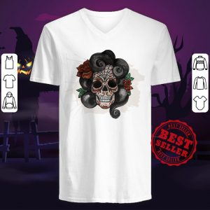 Dia De Muertos Woman Sugar Skull V-neck