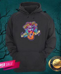 Feliz Dia Muertos Skeleton Man Play Guitar Day Dead Hoodie