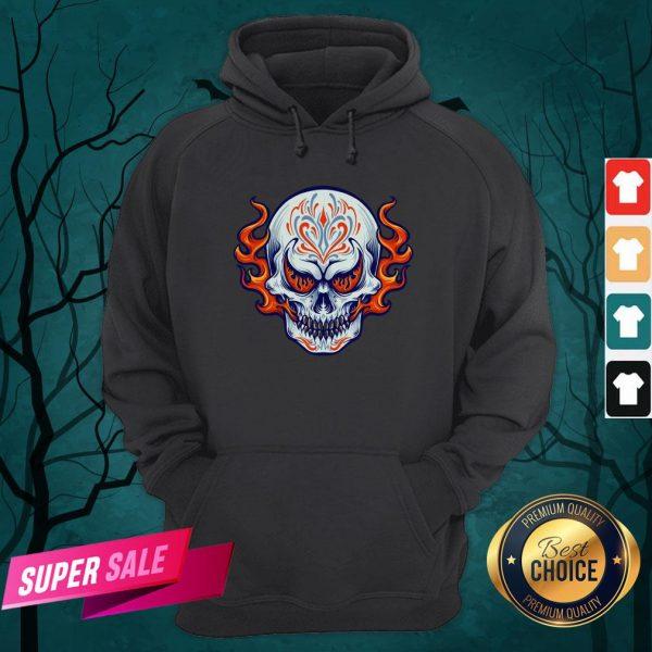 Fire Sugar Skull Dia De Muertos Day Of Dead Hoodie