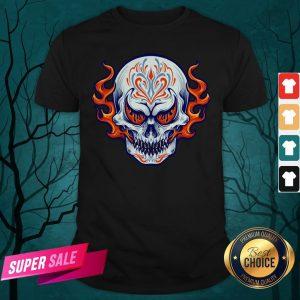 Fire Sugar Skull Dia De Muertos Day Of Dead Shirt
