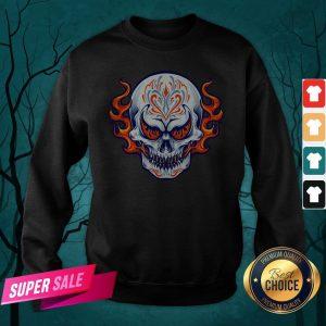 Fire Sugar Skull Dia De Muertos Day Of Dead Sweatshirt