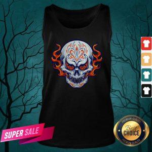 Fire Sugar Skull Dia De Muertos Day Of Dead Tank Top