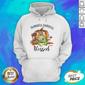 Frog Thankful Grateful Blessed Autumn Fall Hoodie
