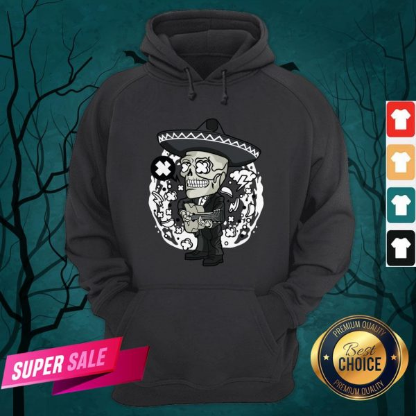 Gentlemen Skeleton Play Guitar Day Of The Dead In Mexican Holiday Hoodie