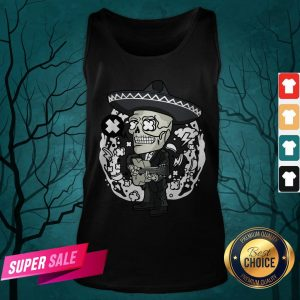 Gentlemen Skeleton Play Guitar Day Of The Dead In Mexican Holiday Tank Top