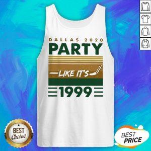 Hockey Dallas 2020 Party Like It's 1999 Vintage Retro Tank Top