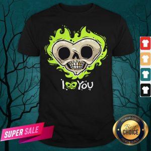 I Love You Skull Heart Halloween Day Shirt
