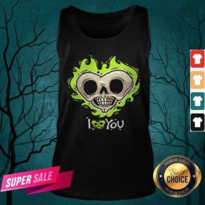 I Love You Skull Heart Halloween Day Tank Top