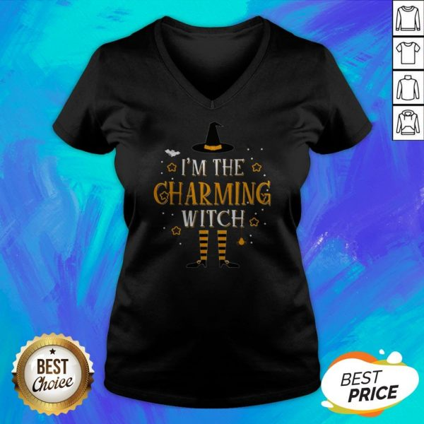 I'm The Charming Witch Halloween Matching Group Costume V-neck