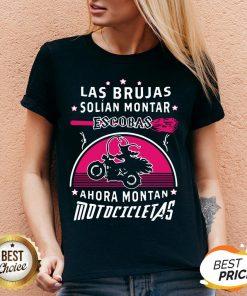 Las Brujas Solian Montar Escobas Ahora Montan Motocicletas 2020 V-neck
