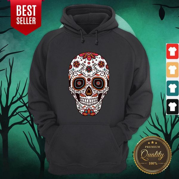 Mexican Sugar Skull Day Of The Dead Hoodie