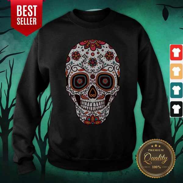 Mexican Sugar Skull Day Of The Dead Sweatshirt