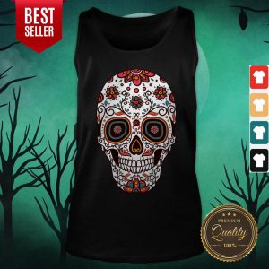 Mexican Sugar Skull Day Of The Dead Tank Top