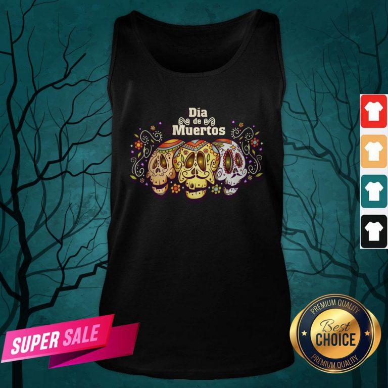 Mexico Sugar Skull Dia De Muertos Day Dead Tank Top