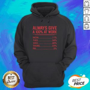 Nice Always Give A 100 At Work Hoodie