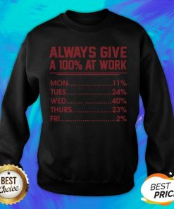 Nice Always Give A 100 At Work Sweatshirt