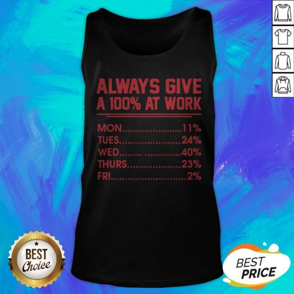 Nice Always Give A 100 At Work Tank Top