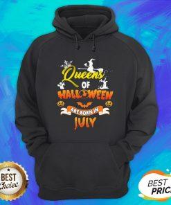 Nice Queen Of Halloween Are Born In July Hoodie