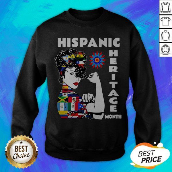 Nice Strong Woman Hispanic Heritage Month Sweatshirt