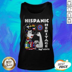 Nice Strong Woman Hispanic Heritage Month Tank Top