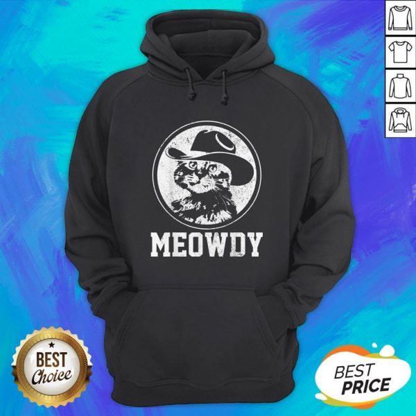 Official Meowdy Cat Cowboy Hat Hoodie