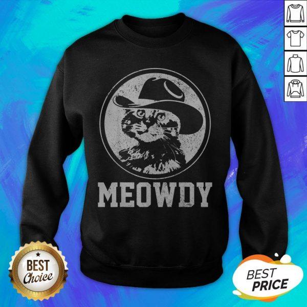 Official Meowdy Cat Cowboy Hat Sweatshirt