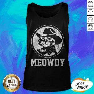 Official Meowdy Cat Cowboy Hat Tank Top