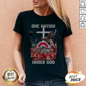 Ohio State Buckeyes One Nation Under God V-neck