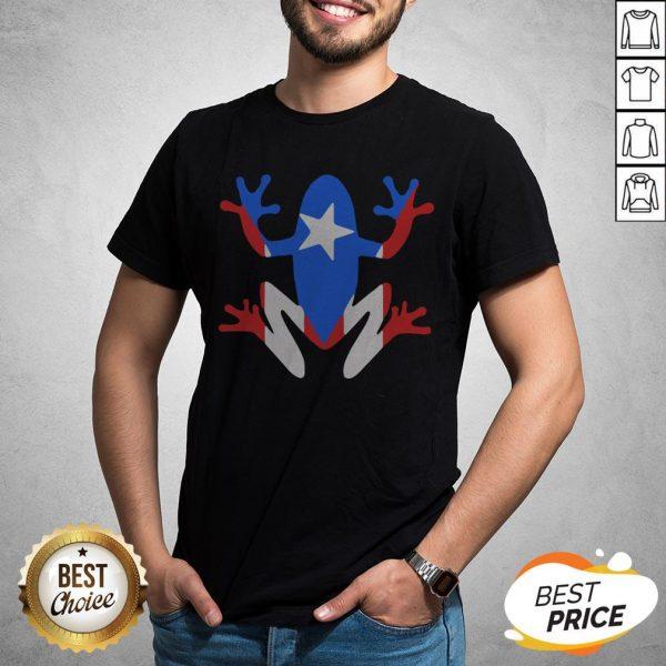 Original Pr Coqui American Flag Shirt