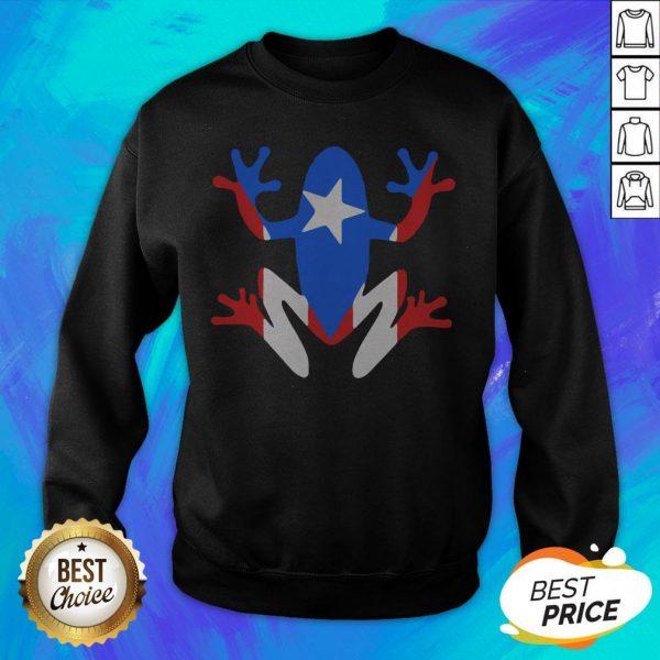 Original Pr Coqui American Flag Sweatshirt