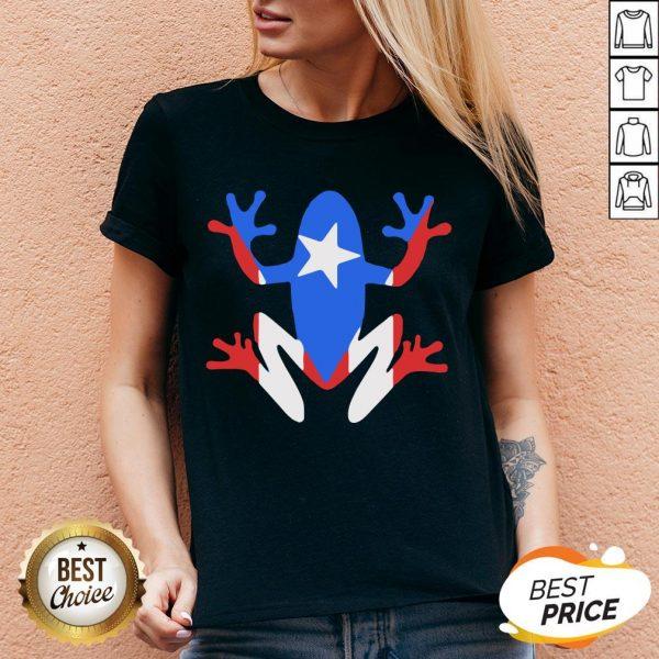 Original Pr Coqui American Flag V-neck