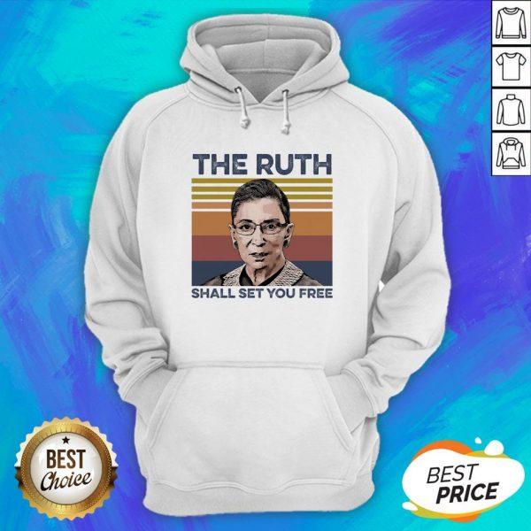 Pretty RBG The Ruth Shall Set You Free Hoodie