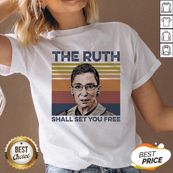 Pretty RBG The Ruth Shall Set You Free V-neck
