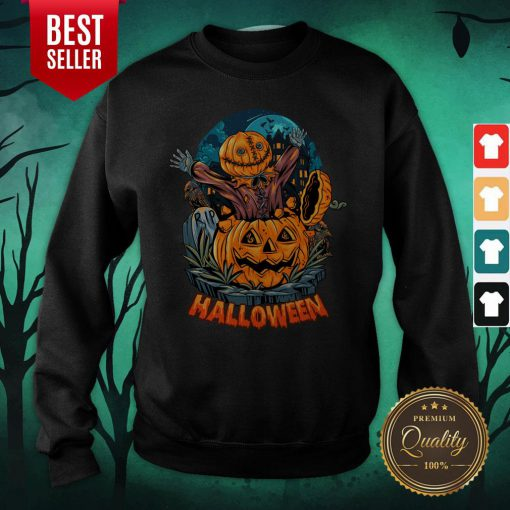 Sack Headed Human Comes Out Halloween Sweatshirt