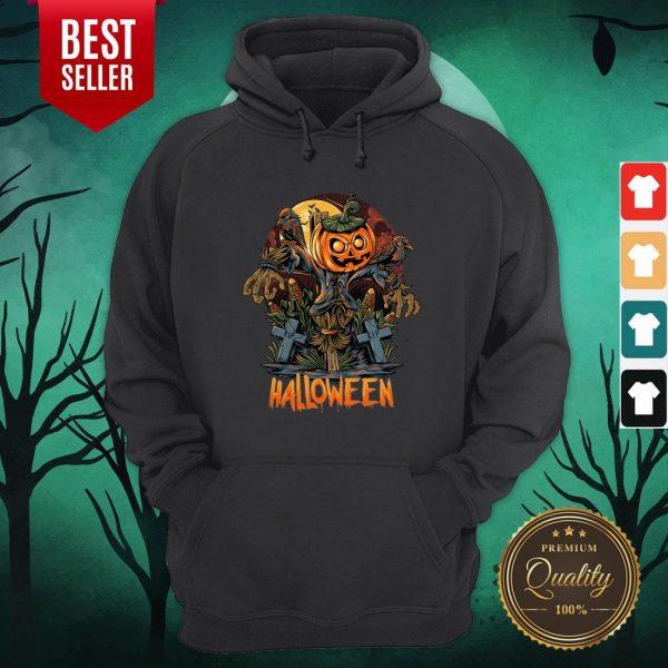 Scarecrow Pumpkins Halloween Hoodie