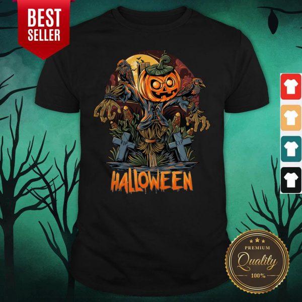 Scarecrow Pumpkins Halloween Shirt