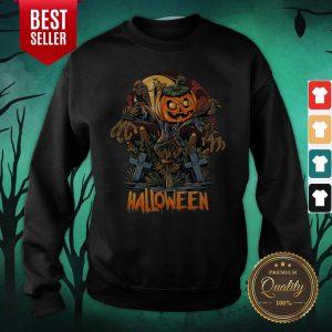 Scarecrow Pumpkins Halloween Sweatshirt