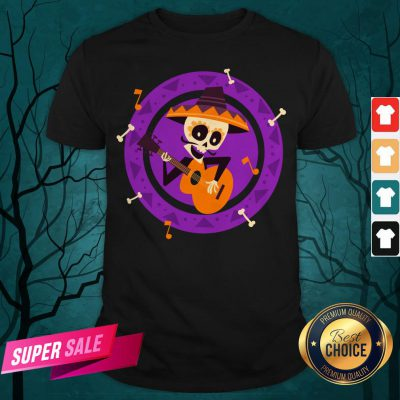Skeleton Man Play Guitar Day Of The Dead Shirt