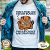 Skeleton That's What I Do I Read Books I Wear Crocs And I Know Things Shirt