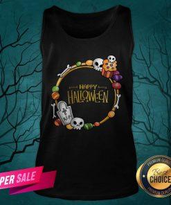 Skull Day Dead Happy Halloween Tank Top