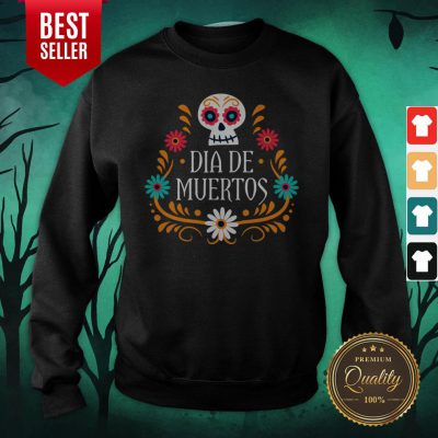 Skull Day Of The Dead Mexican Holiday Sweatshirt