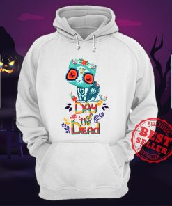 Sugar Skull Cat Day Of The Dead Hoodie