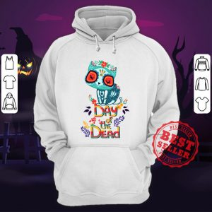 Sugar Skull Cat Day Of The Dead Hoodie