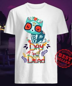Sugar Skull Cat Day Of The Dead Shirt