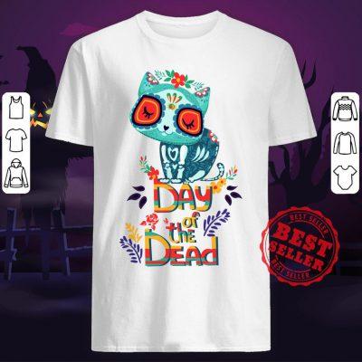 Sugar Skull Cat Day Of The Dead Shirt