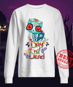 Sugar Skull Cat Day Of The Dead Sweatshirt