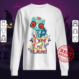 Sugar Skull Cat Day Of The Dead Sweatshirt